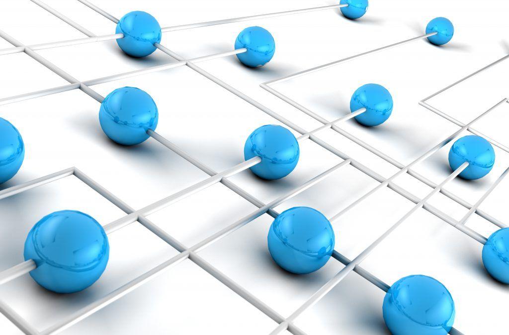 magen 3d concepto de trabajo en red